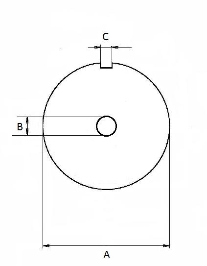 Skizze Lochscheibe 1 Nute kleines Mittelloch