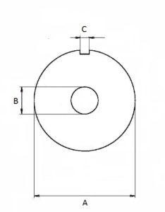 Zeichnung Lochscheibe 1 Nute